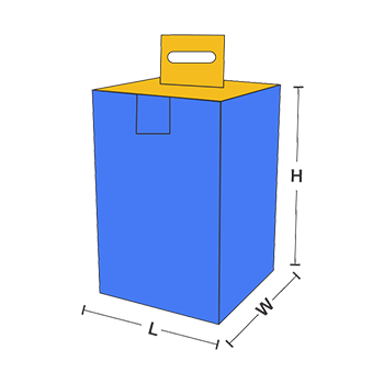 Box with Hanging and Locking Tab Measurement Guidelines