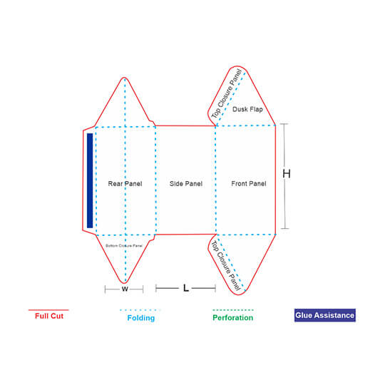 Prism Shaped Box Template