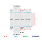 Roll End Tuck Top Box Template