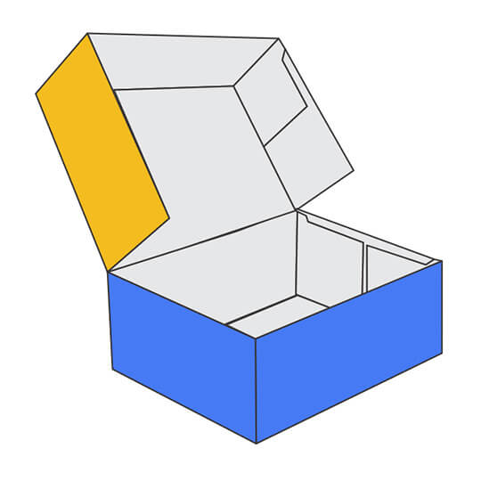 6 Corner Tray with Lid