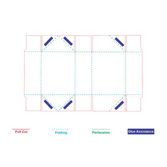 6 Corner Tray with Lid Template