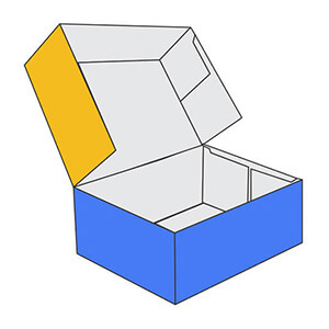 Six Corner Tray with Lid Boxes
